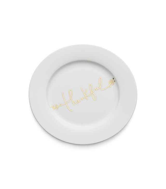 Crate and Barrel Thankful Salad Plate