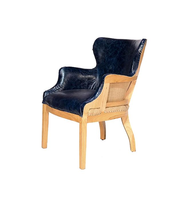 Sarreid, Ltd. Borken Desk Chair in Navy