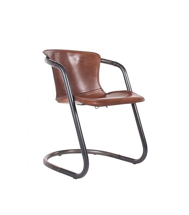 HD Buttercup Duke Leather Vintage Chair in Light Brown