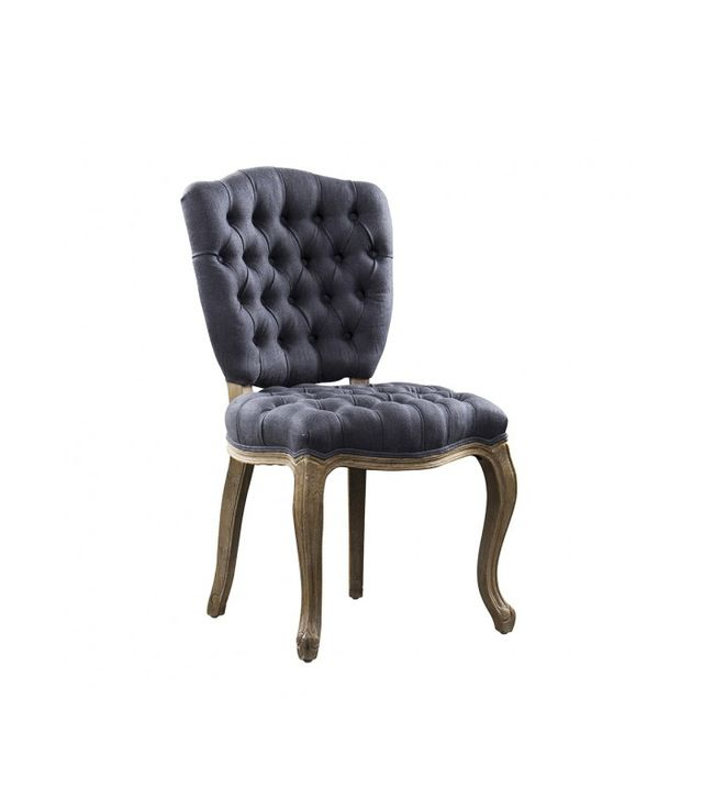 HD Buttercup Shield Navy Linen Chair