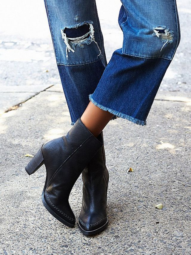 Free People Baroness Heel Ankle Boots