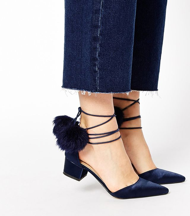 ASOS White Say You Will Pointed Heels