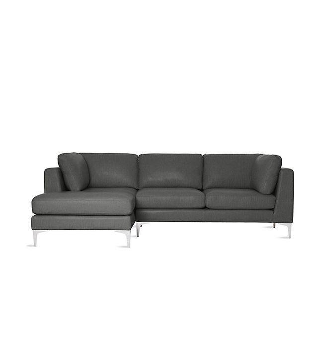 Design Within Reach Albert Sectional Chaise Left in Leather