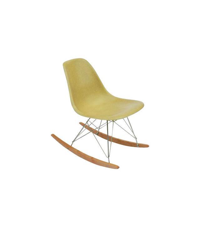 Herman Miller Yellow Fiberglass Rocking Chair