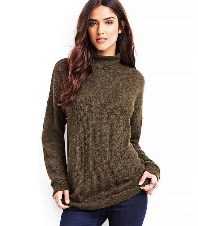 Forever 21 Marled Mock Neck Sweater