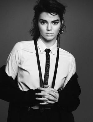 Kendall Jenner Takes On '80s-Inspired Menswear for Vogue Paris