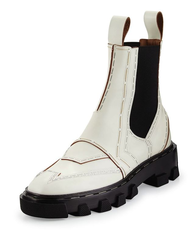 Balenciaga Stapled Leather Chelsea Boot