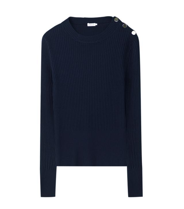 Filippa K Merino Rib Button Sweater