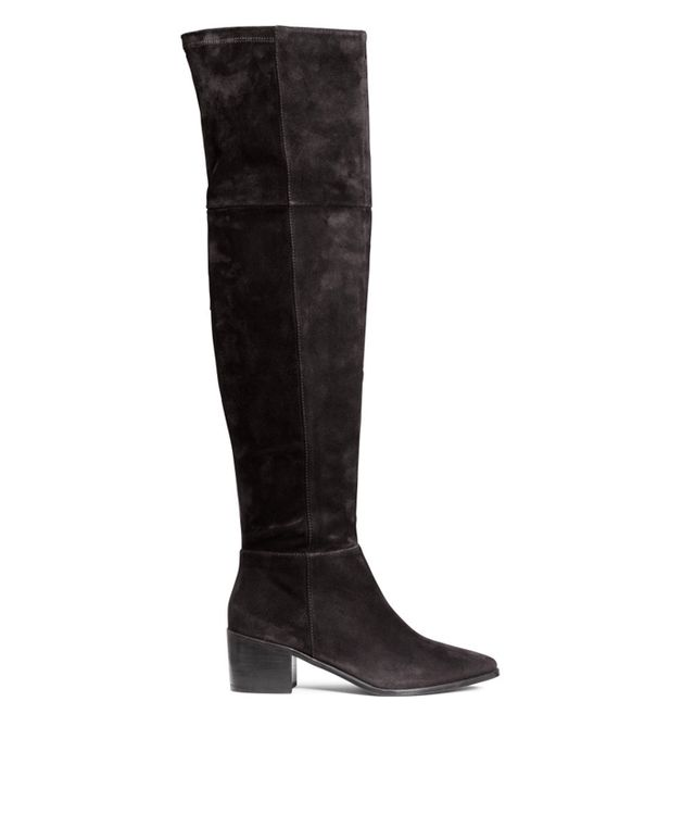 H&M Thigh-High Suede Boots