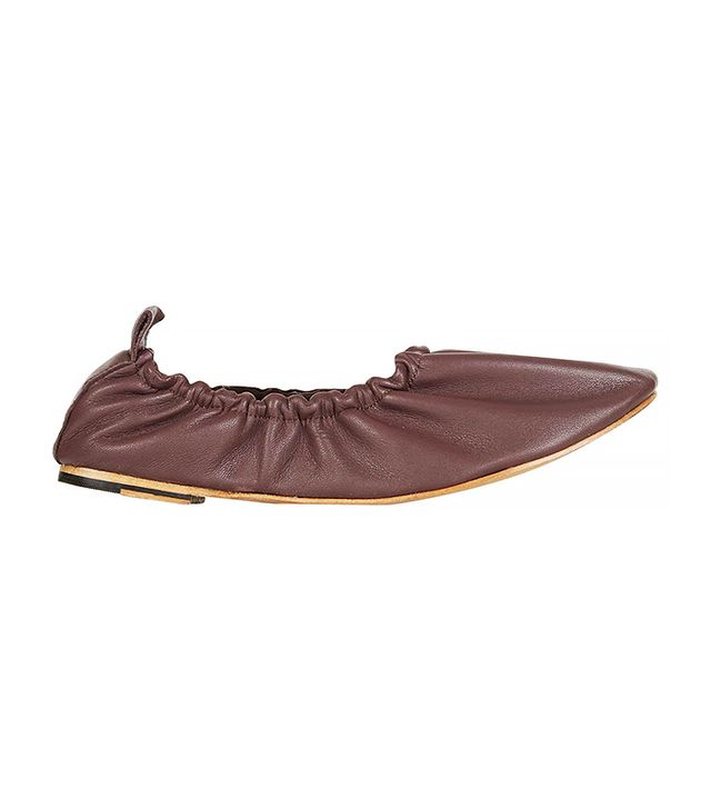 Topshop Kat High Vamp Ballet Flats