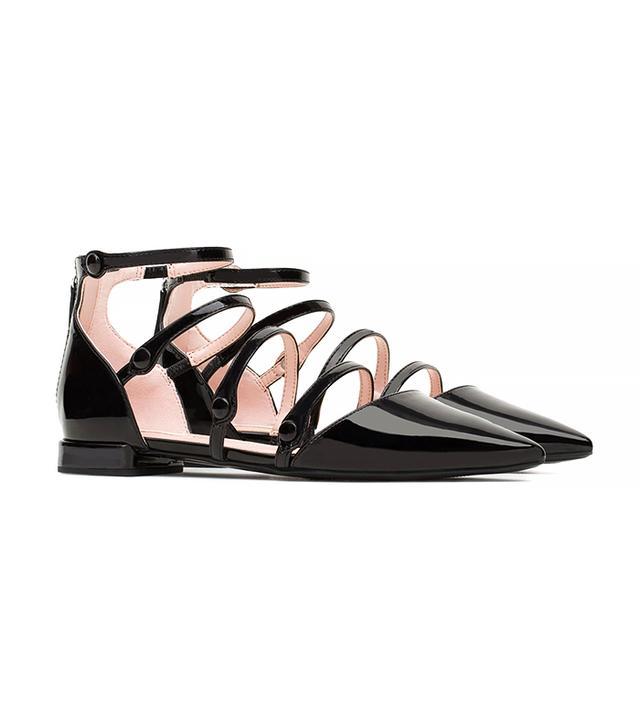 Zara Flat Ankle-Strap Shoes