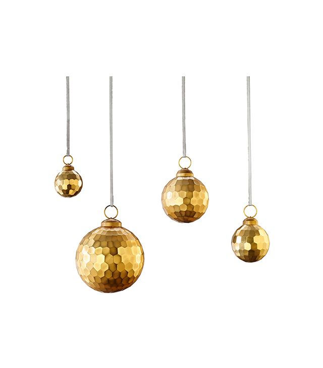 Restoration Hardware Solid Faceted Metallic Ornament