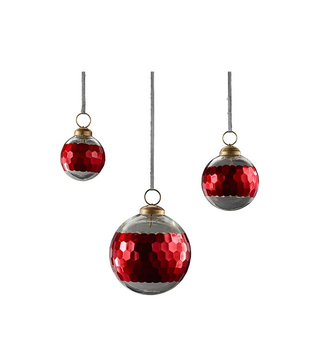 Restoration Hardware Banded Faceted Metallic Ornament