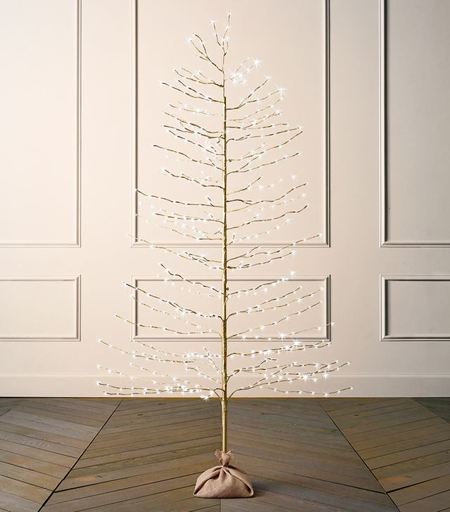 Restoration Hardware Gold Starlit Tree