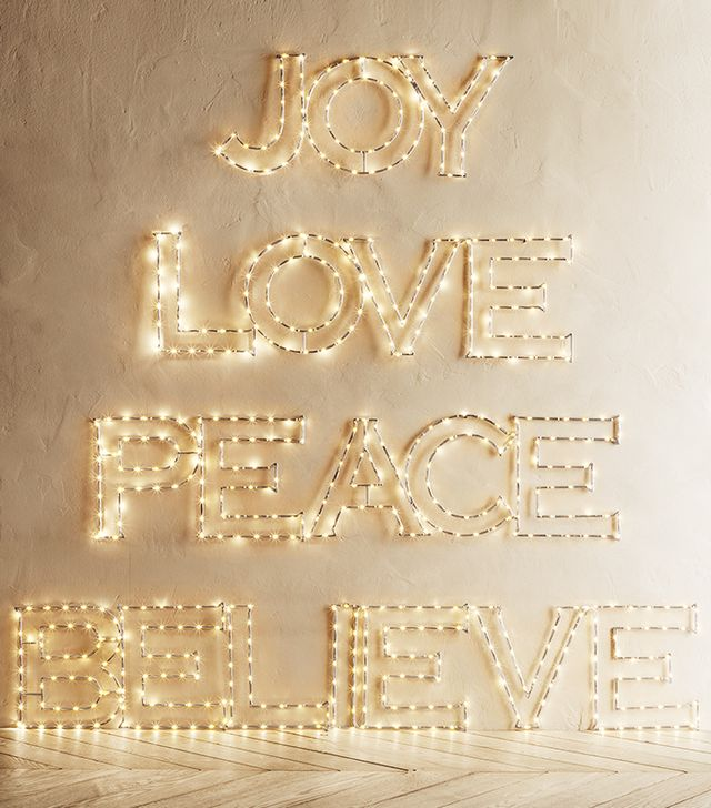 Restoration Hardware Joy Starry Lights Words