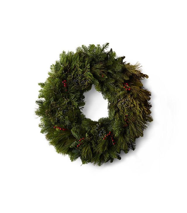 Restoration Hardware Evergreen and Berry Fresh Cut Wreath