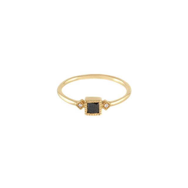 Jennie Kwon Black Diamond Sotto Voce Ring