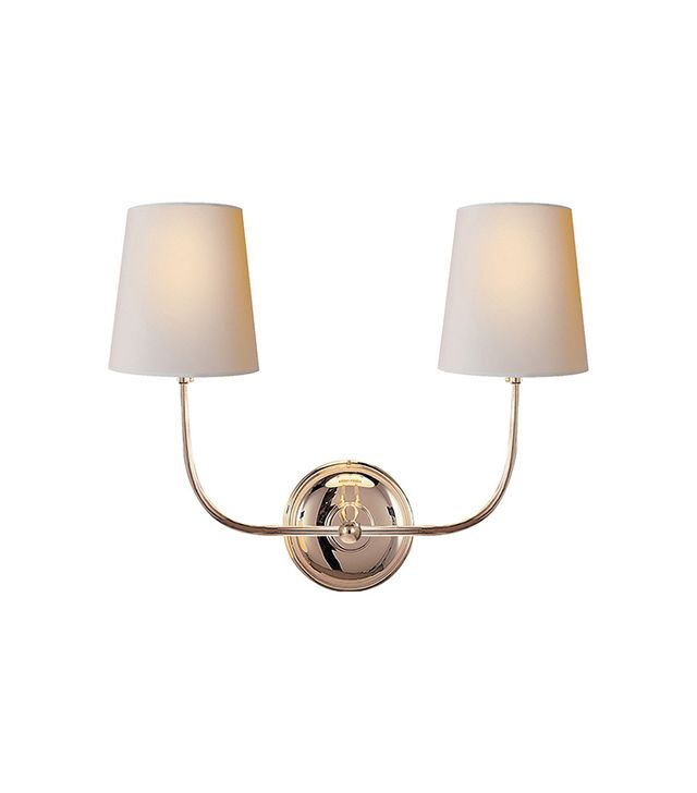 Visual Comfort & Co. Vendome Double Sconce, Polished Nickel