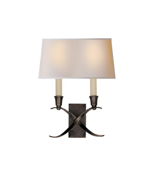 Visual Comfort & Co. Small Cross Bouillotte Sconce in Bronze