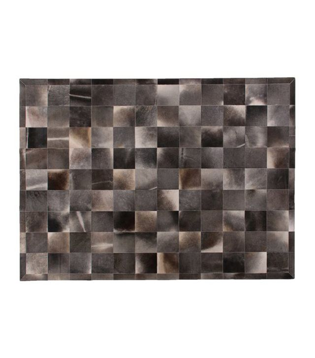 One Kings Lane Stitched Blocks Hide Rug