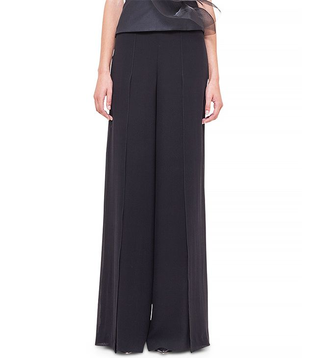 Akris Front-Slit Wide-Leg Pants
