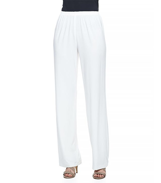 Caroline Rose Stretch Knit Wide-Leg Pants