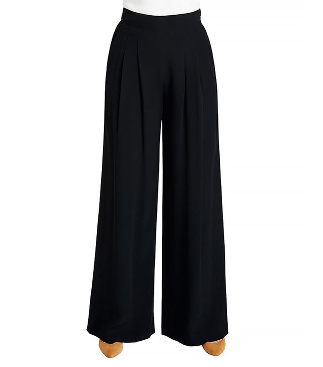Lafayette 148 New York Ludlow Wide-Leg Crepe Pants