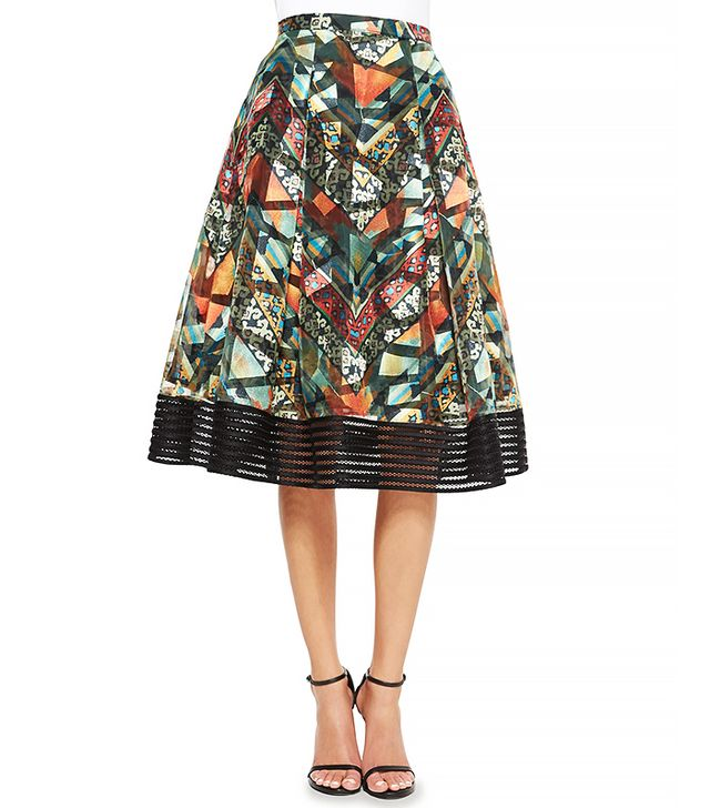 Sachin & Babi Tribal-Print Midi Ball Skirt