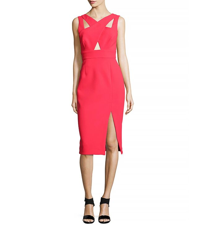Nicholas Sleeveless Crisscross Sheath Dress