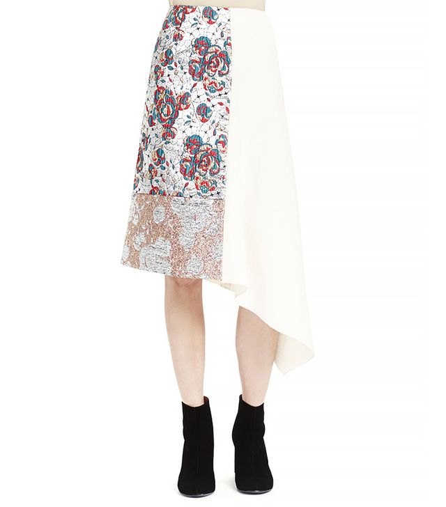 Stella McCartney Brocade Patch Midi Skirt