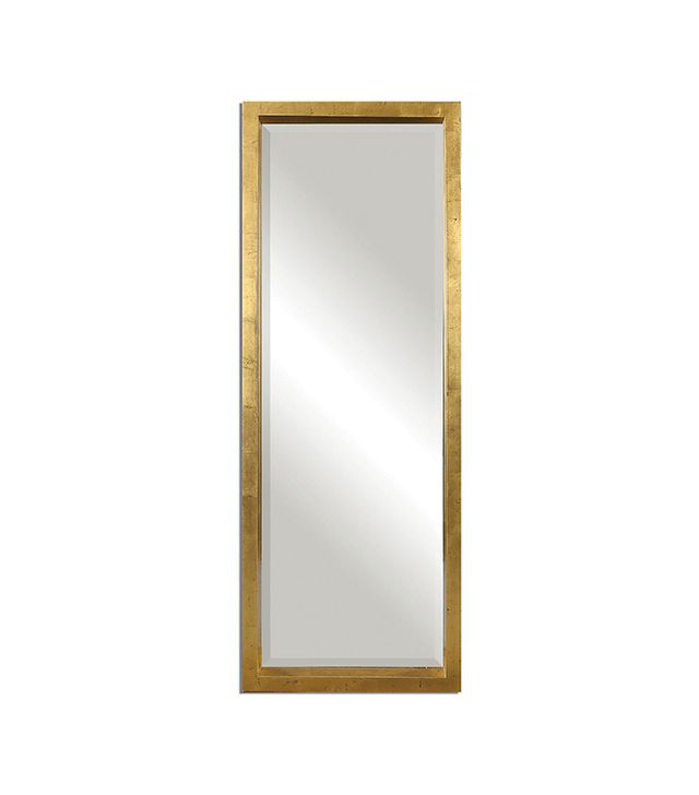 One Kings Lane Jonah Floor Mirror in Gold Leaf