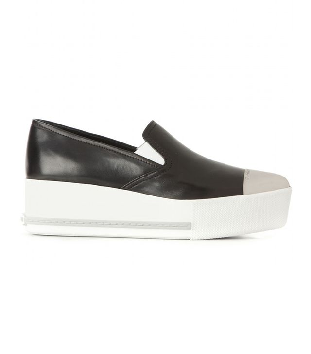 Miu Miu Platform Slip-On Sneakers
