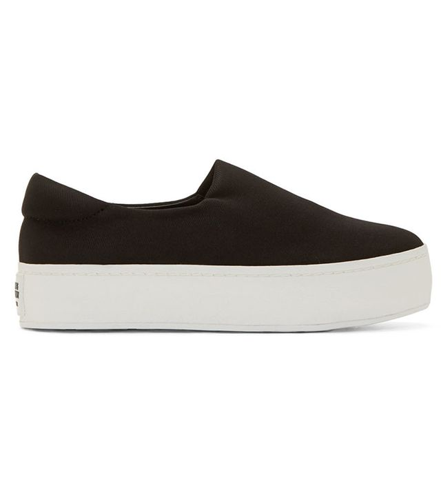 Opening Ceremony Black Slip-On Platform Sneakers