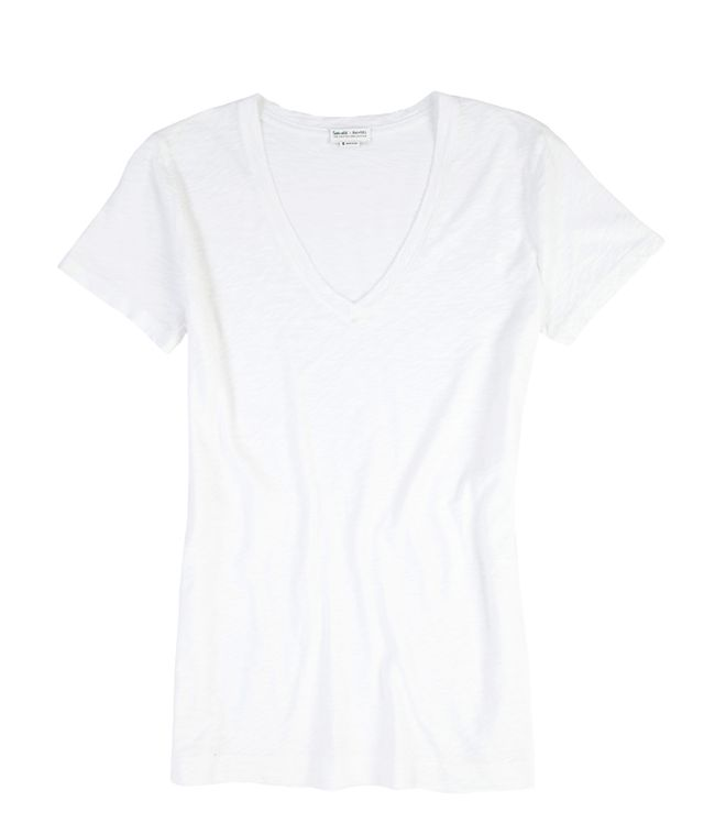 Splendid x Damsel White Cotton T-Shirt