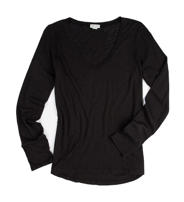 Splendid x Damsel Black Long-Sleeved T-Shirt