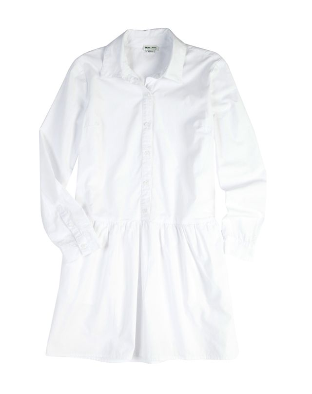 Splendid x Damsel White Cotton Shirtdress