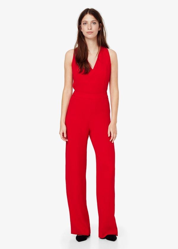 Mango Flowy Long Jumpsuit