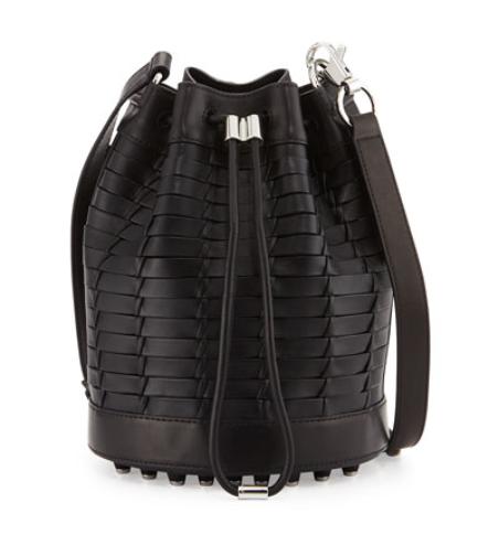 Alexander Wang Alpha Woven Napa Leather Bucket Bag