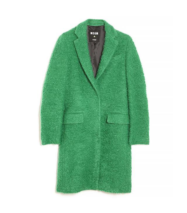 MSGM Wool Boucle Coat