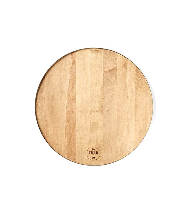 FEED for West Elm Round Wood + Steel Cutting Board
