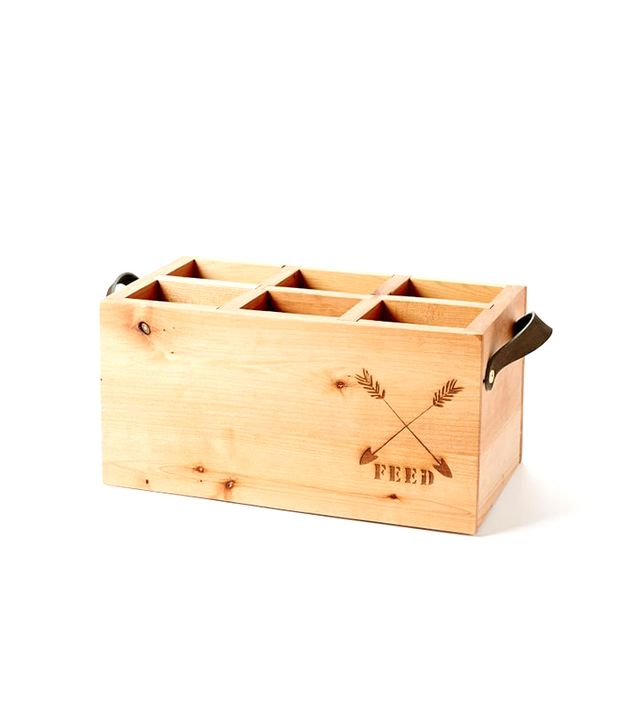 FEED for West Elm Wood Wine Caddy