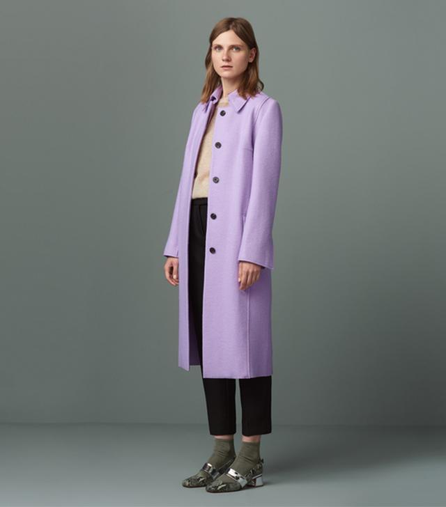 Finery Mortimer Lavender Wool Coat