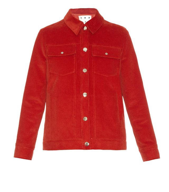 Trademark Point-Collar Corduroy Jacket