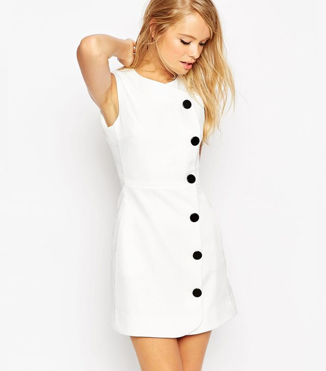 ASOS Mini Dress with Button Detail