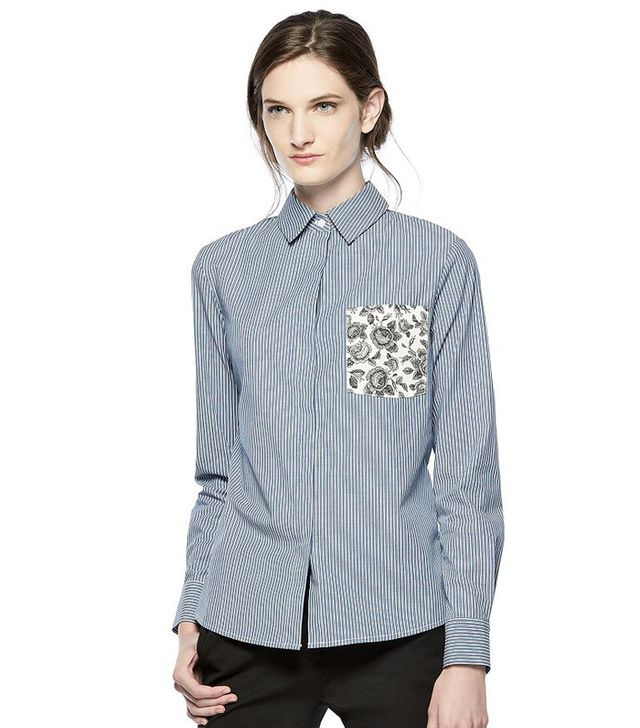 Thakoon for DesigNation Print-Pocket Shirt