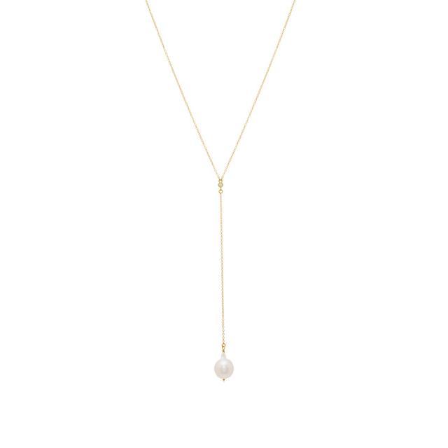 Mizuki Pearl Lariat Necklace