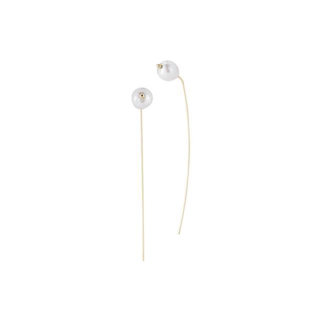 Mizuki White Pearl Stud Earrings
