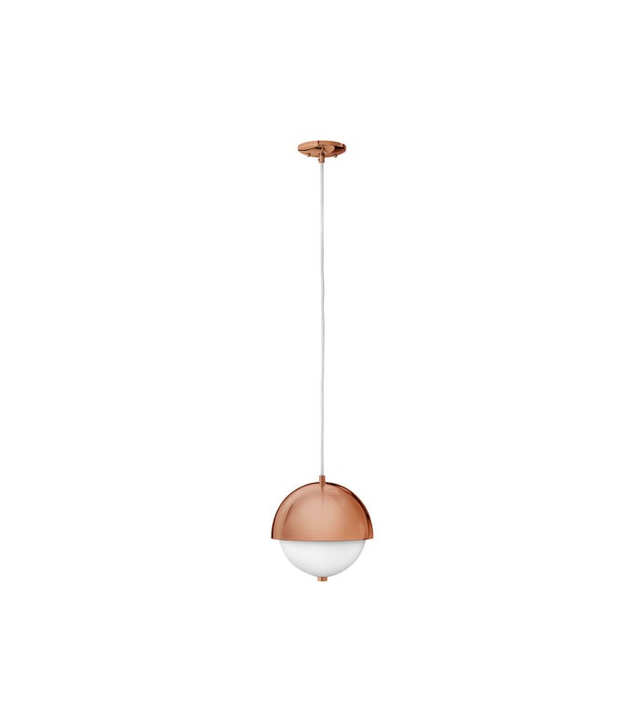 Fredrick Ramond Globe 10 Inch Rose Gold Pendant Light