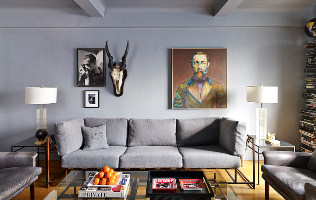 Head over toScene to take the full tour and learn about this handsome home.  Would you paint a room gray? Tell us below.