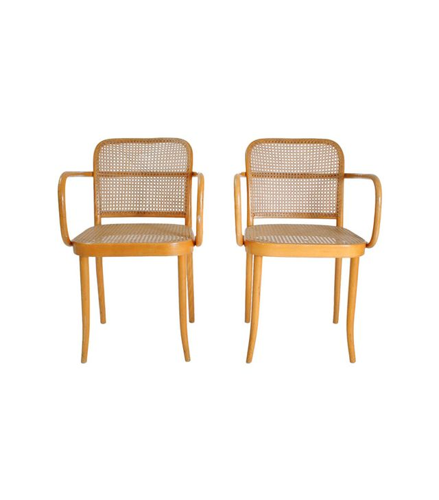 Josef Hoffman Model Prague Chairs, Set of Two